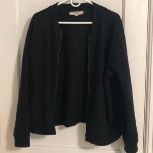 Ann Taylor LOFT black wool jacket